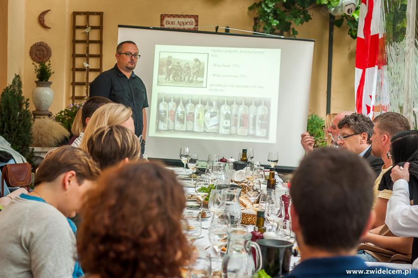 klimatypoluklimKraków - Klimaty Południa - degustacja win z winnicy Vaziani - posział win gruzińskich