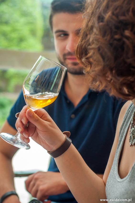 klimKraków - Klimaty Południa - degustacja win z winnicy Vaziani - kieliszek białego wina