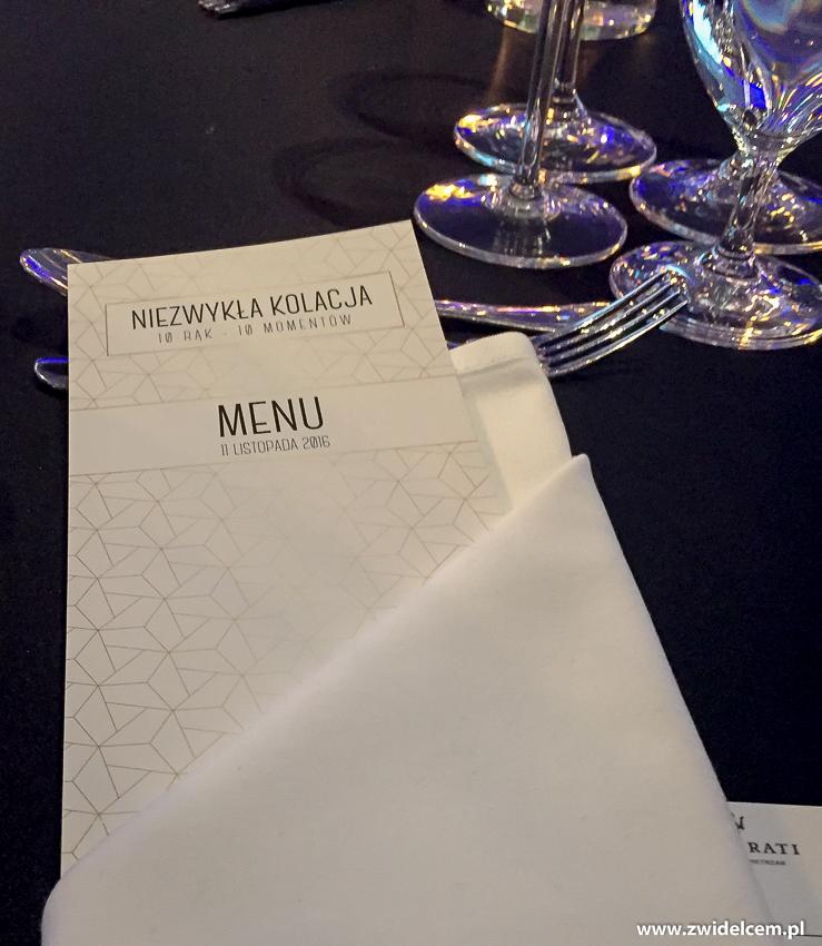 """Hotel Heron - Sienna - Gródek nad Dunajcem - menu Niezwykła kolacja """"10 rąk - 10 momentów"""""""