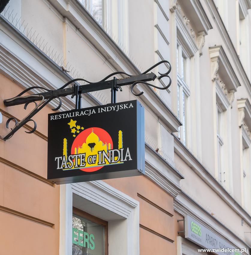 Kraków - Taste of India - szyld