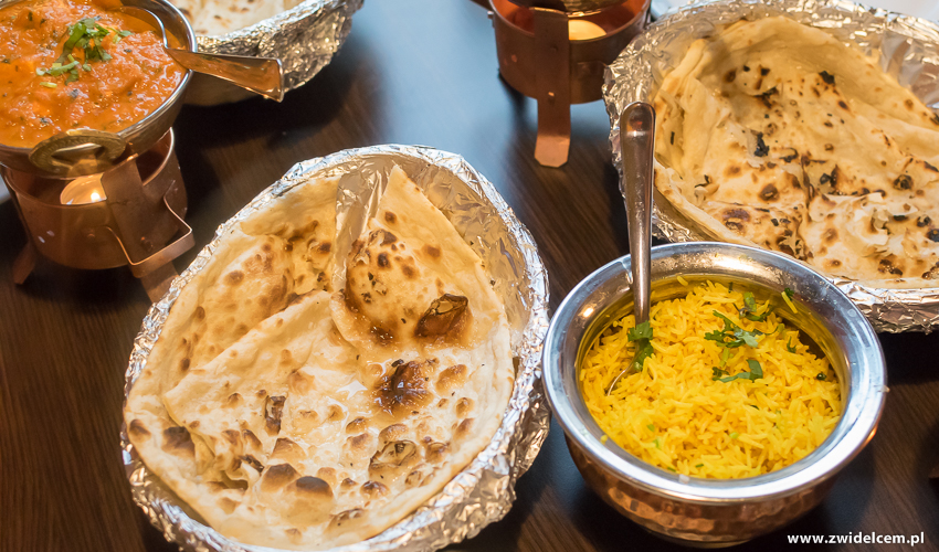 Kraków - Taste of India - pulao rice - smażony ryż - butter naan
