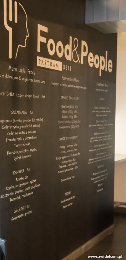 Kraków - Pastram Deli- menu na ścianie