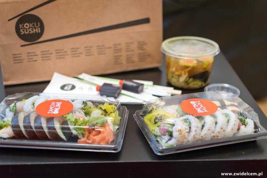 Kraków - Koku Sushi - zamówienie - sushi i zupa