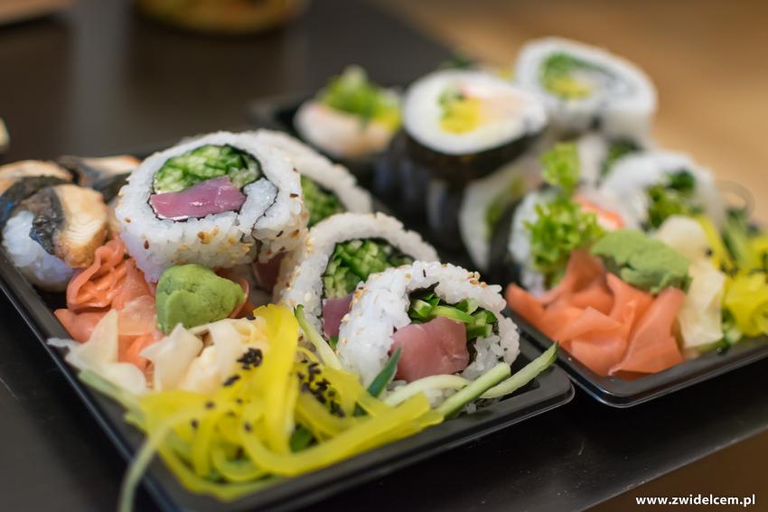 Kraków - Koku Sushi -zestawy sushi - nigiri z węgorzem
