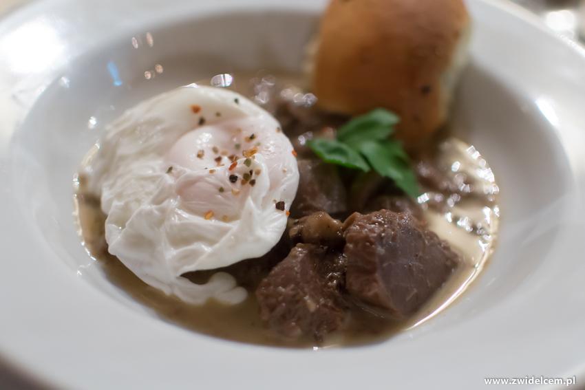 Kraków - Il Calzone - degustacja win gruzińskich -Potrawka z gęsich żołądków na ostro