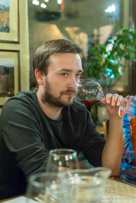 Kraków - Il Calzone - degustacja win gruzińskich - nos