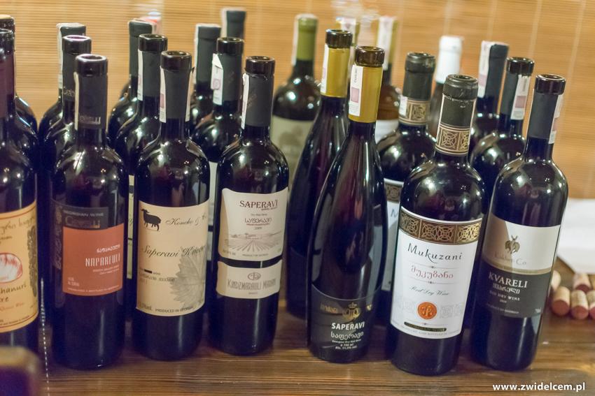 Kraków - Il Calzone - degustacja win gruzińskich - butelki2