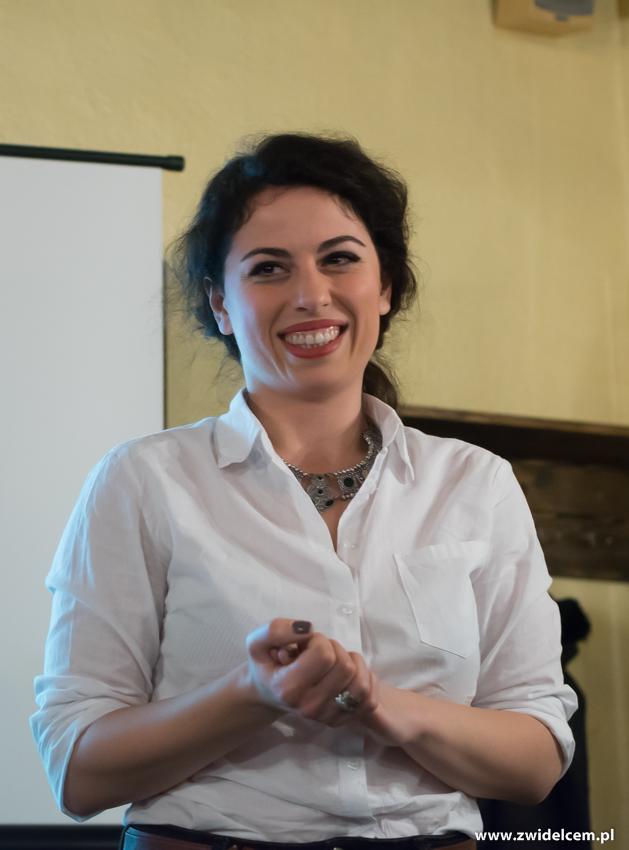 Kraków - Il Calzone - degustacja win gruzińskich - uśmiechnięta Keti
