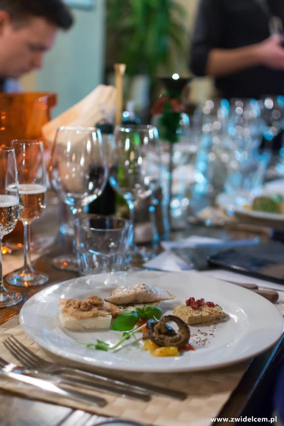 Kraków - Il Calzone - degustacja win gruzińskich - przekąski - bakłażan
