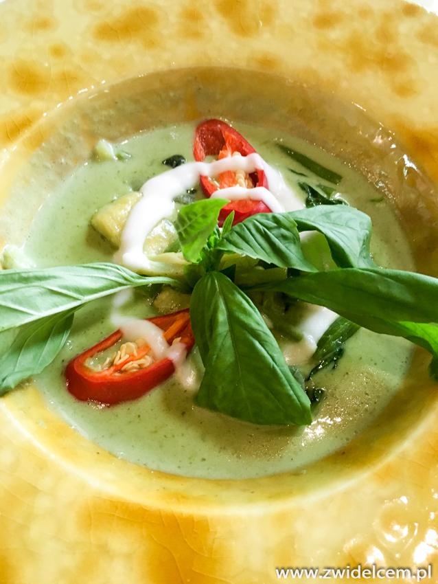 Kraków - Taj - zielone curry z tofu - oferta lunchowa