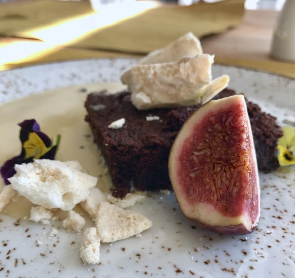 Kraków - Trattoria Venezia - ciasto czekoladowe